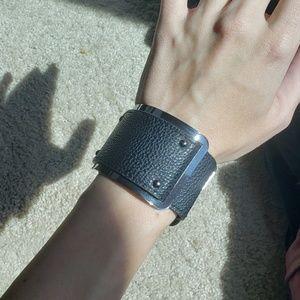 BCBG Max Azria leather cuff